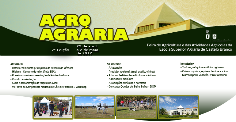 29 de abril a 2 de maio | Escola Superior Agrária do IPCB