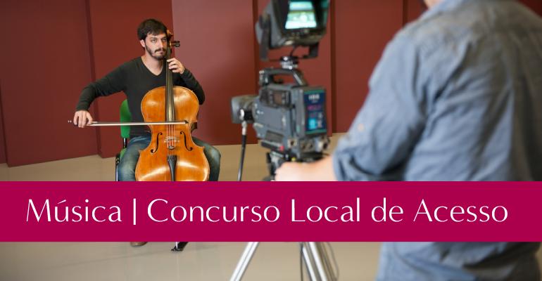 Concurso Local - Música | Inscrições até 12 de maio