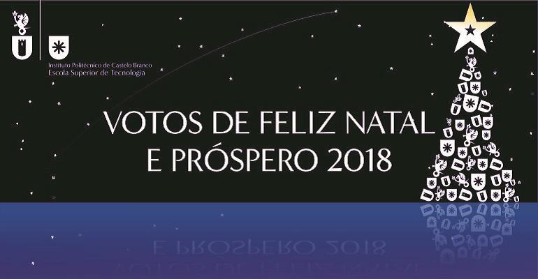 Votos de Feliz Natal e Próspero 2018
