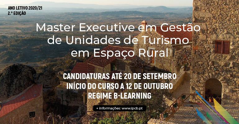 Master Executive em Gestão de Unidades de Turismo em Espaço Rural
